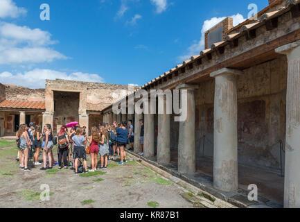 Dans le groupe d' Terme Stabiane (Thermes Stabiane) à Pompéi Pompéi ( ), Naples, Campanie, Italie Banque D'Images