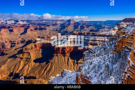 Le Parc National du Grand Canyon, South Rim à l'hiver, de l'Arizona. Banque D'Images