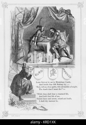 LORD SOULIS. Ballade britannique qui raconte l'histoire de William de Soulis (mort c. 1320), seigneur de Liddesdale Banque D'Images