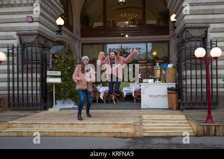 Moscou, Russie. Déc 20, 2017. Le festival annuel de Noël Voyage en 'Noël'' aura lieu à quelques pas de la Place Banque D'Images