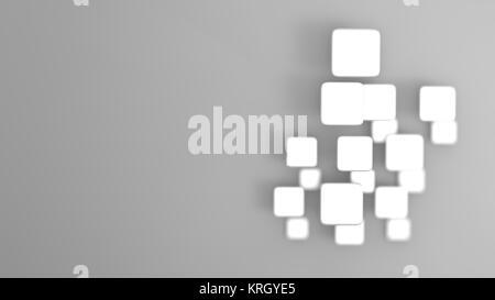 Le rendu 3D de forme géométrique abstraite losange gris Banque D'Images