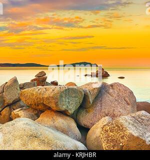 Un paysage extraordinaire au coucher du soleil. Banque D'Images