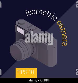 Vector illustration isométrique de l'appareil photo Banque D'Images