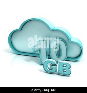 Cloud computing et base de données. 10 Go de capacité Banque D'Images