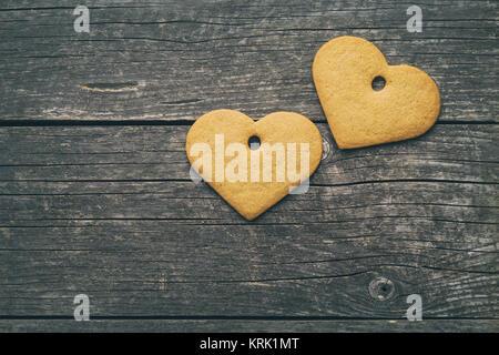 Forme d'épice coeur. Banque D'Images