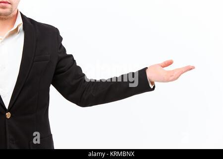 Vêtu d'un costume d'affaires caucasien homme part Banque D'Images