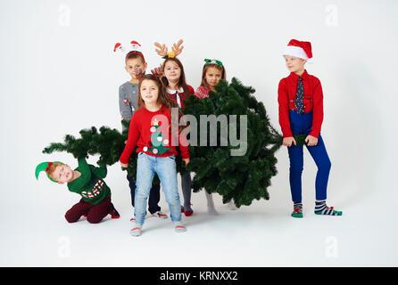 Arbre de Noël doivent être à notre maison Banque D'Images