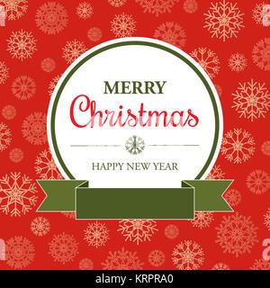 Carte de Noël incroyable dans un style rétro Banque D'Images