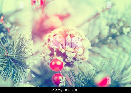 Close up sur décoration d'arbre de Noël