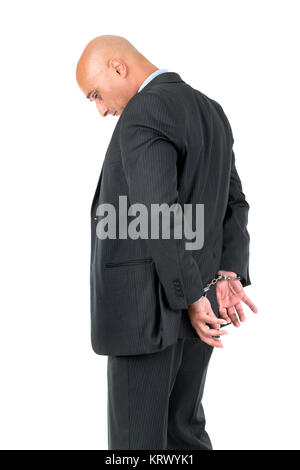 Businessman in handcuffs Banque D'Images