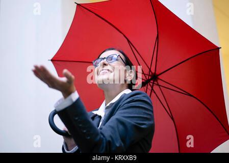 Umbrella Man Banque D'Images