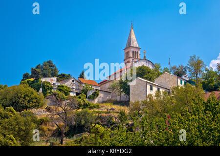 Nerezisca village landmarks, sur l''île de Brac Banque D'Images