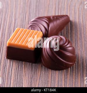 Différentes sortes de chocolats