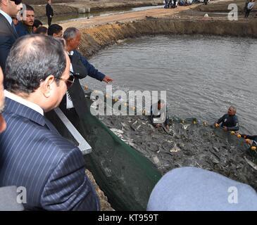 Cairo, Le Caire, Égypte. 26Th Dec 2017. Le président égyptien Abdel-Fattah al-Sisi prend part lors de l'ouverture Banque D'Images