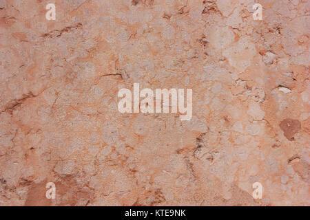 En orange, rose,ancienne surface , fond, mur de l'ancienne, antique, pierre naturelle. Banque D'Images