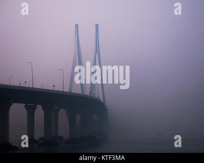 Pont Bandra-Worli Sea Link Banque D'Images