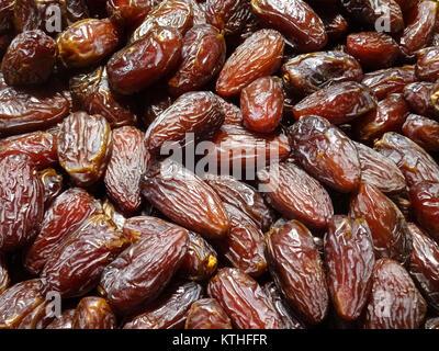 Pile de dates , les fruits secs date libre Banque D'Images