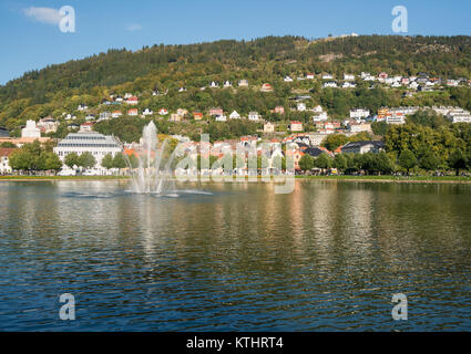 Lille Lungegardsvannet lake à Bergen Banque D'Images
