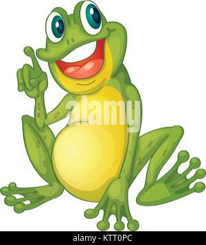 Illustration d'un personnage de grenouille Banque D'Images