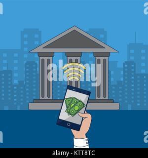 Fintech industrie à concevoir Banque D'Images