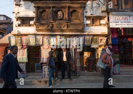 Les gens de rue, Katmandou, Népal Banque D'Images