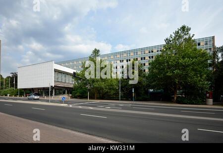 Nouvel hôtel de ville, la Thuringe, se vautrer, Neues Rathaus, Thuringe, Suhl Banque D'Images