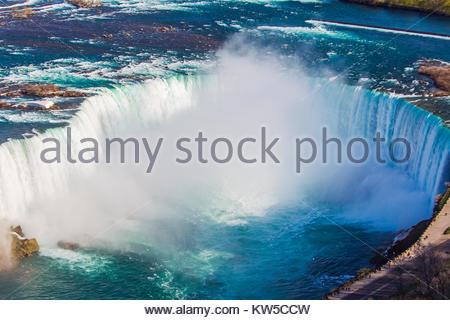 Une vue aérienne de Horseshoe Falls. Banque D'Images