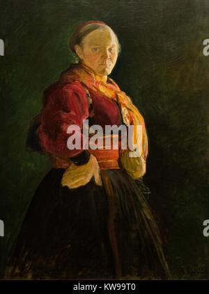 Halfdan Egedius: 'Portrait de Mari Clasen' (1895) Banque D'Images
