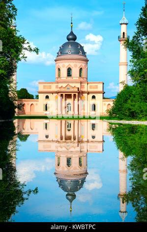 Mosquée bleue sur fond de ciel bleu Banque D'Images