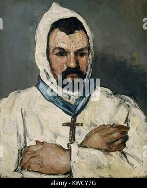 L'oncle d'artistes, en tant que moine, par Paul Cezanne, 1866, peinture à l'huile postimpressionniste français. Banque D'Images