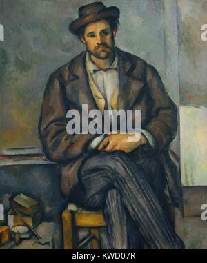 Paysan assis, par Paul Cezanne, 1892 à 1896, français postimpressionnistes peinture, huile sur toile. Le gardien Banque D'Images
