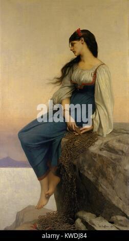 GRAZIELLA, par Jules-Joseph Lefebvre, 1878, la peinture française, huile sur toile. GRAZIELLA est le personnage Banque D'Images