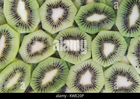 Tranches de kiwi vert texture background