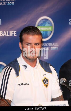 LOS ANGELES, CA - le 12 juillet: David Beckham assiste à Herbalife world football challenge conférence de presse à Creative Artists Agency le 12 juillet 2011 à Los Angeles, Californie. People: David Beckham