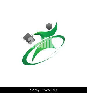 Résumé Les gens logo Banque D'Images