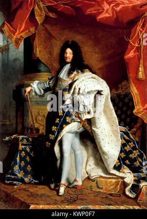 Louis XIV de France Louis XIV (5 septembre 1638 - 1 septembre 1715), régna comme roi de France de 1643 jusqu'à 1715 Banque D'Images