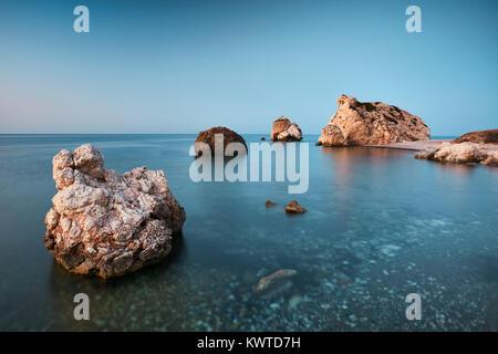 Rocher d'Aphrodite (Petra tou Romiou), Paphos, Chypre Banque D'Images