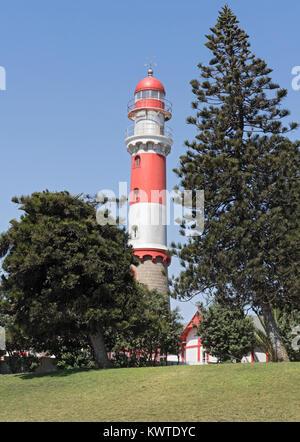Le phare historique de Swakopmund, Namibie, Afrique Banque D'Images