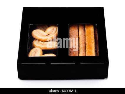 Fort de beurre doux breakfast cookies sur fond blanc Banque D'Images