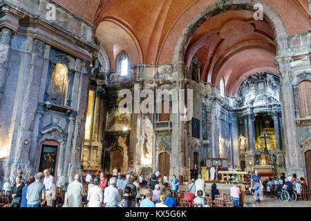 Portugal Lisbonne centre historique de Rossio Igreja de São Domingos National Monument intérieur Église Catholique Banque D'Images