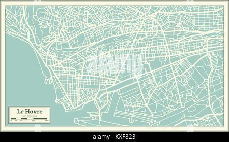 France, Le Havre ligne skyline set. France, Le Havre ville contour vector illustration, symbole ...