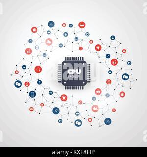 Fuite de données ou de mot de passe dans les ordinateurs et périphériques en raison de bogues CPU et les vulnérabilités Banque D'Images