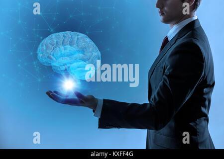 L'Intelligence Artificielle(IA) concept, rendu 3D Banque D'Images