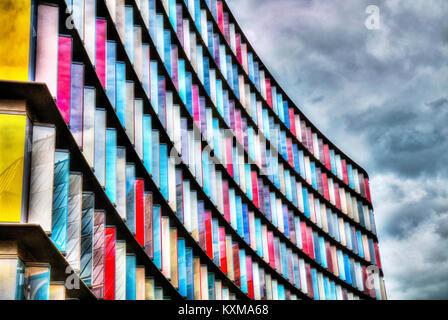 1 et 2 nouveaux Ludgate City of London, Londres, en face de l'architecture bâtiment coloré Old Bailey à Londres, Banque D'Images