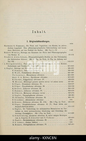 Botanische Jahrbücher und Systematik fourrure, Pflanzengeschichte Pflanzengeographie BHL5146679 Banque D'Images