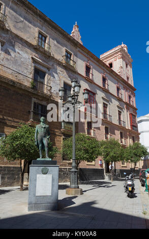 Statue de Francisco de Miranda, Plaza de España, Madrid, Espagne