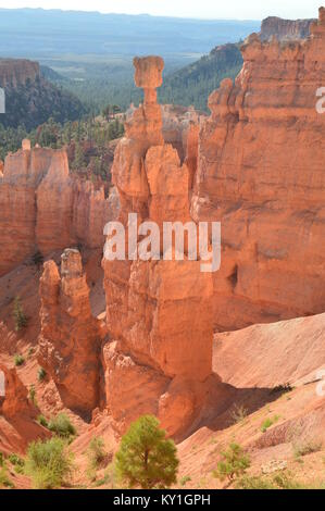Marteaux de Thor à Bryce Canyon Formations Des Hoodos. La géologie. Voyage.La Nature. 25 juin, 2017. Bryce Canyon. Banque D'Images