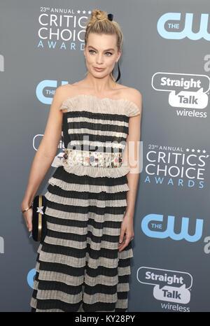 Santa Monica, Californie, USA. Jan 11, 2018. Margot Robbie à la 23e assemblée annuelle Critics' Choice Awards s'est Banque D'Images