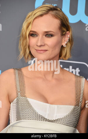 Santa Monica, Californie, USA. Jan 11, 2018. Diane Kruger assiste à la 23e Le Critics' Choice Awards au Barker Hangar Banque D'Images