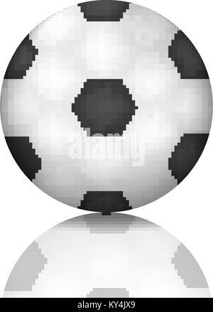 L'icône d'un ballon de football en 3D réaliste, style. Le football, sport concept. Isolé sur fond blanc avec la Banque D'Images